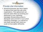 provide vital information7