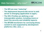 web services why now