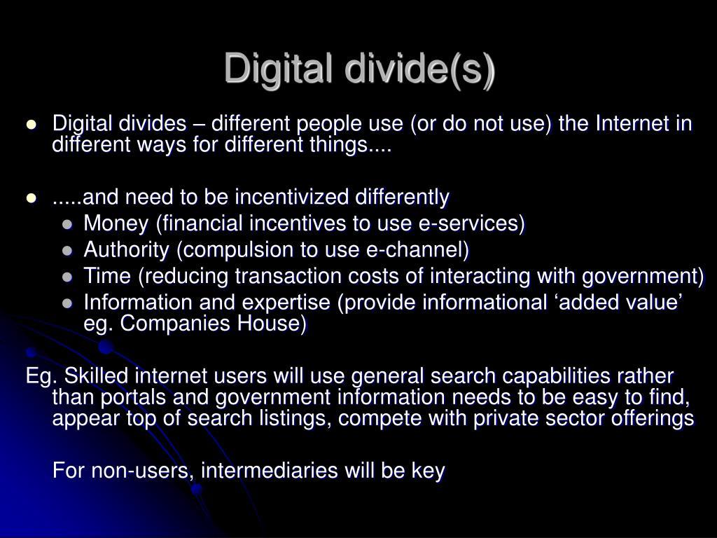 Digital divide(s)