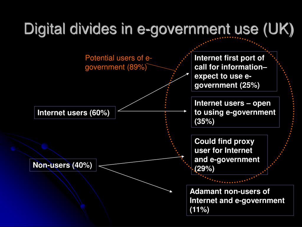 Digital divides in e-government use (UK)