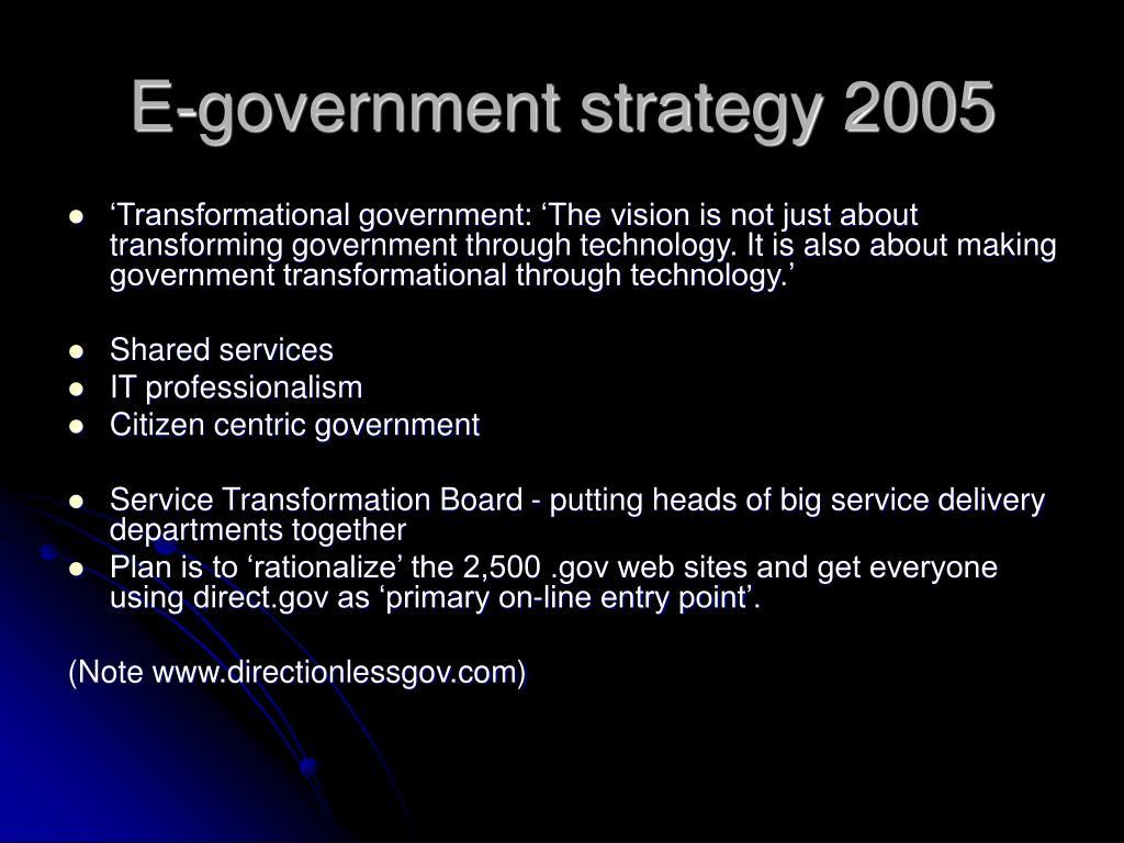E-government strategy 2005