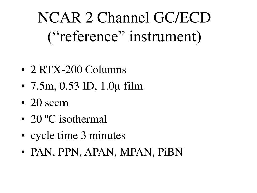 NCAR 2 Channel GC/ECD