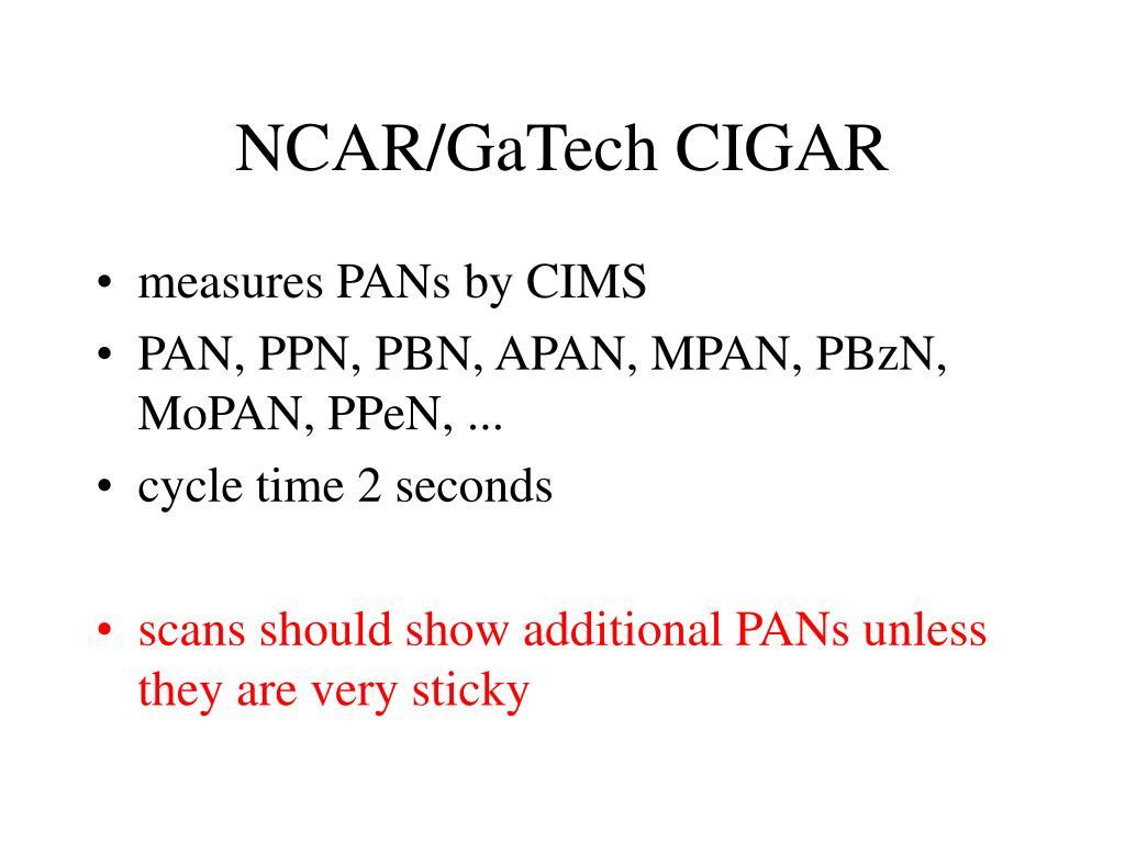 NCAR/GaTech CIGAR