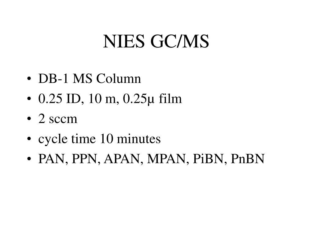 NIES GC/MS