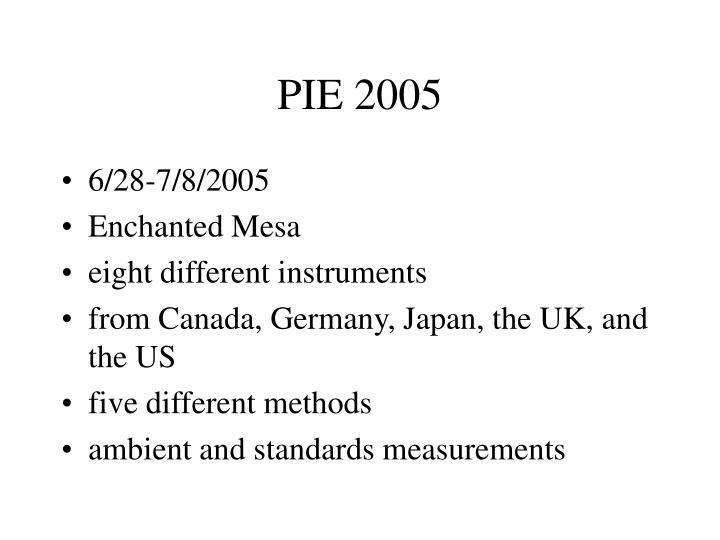 Pie 2005