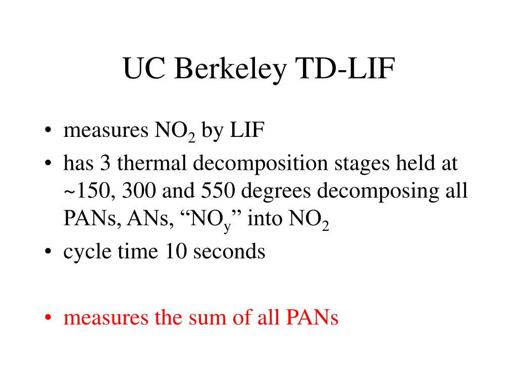 UC Berkeley TD-LIF