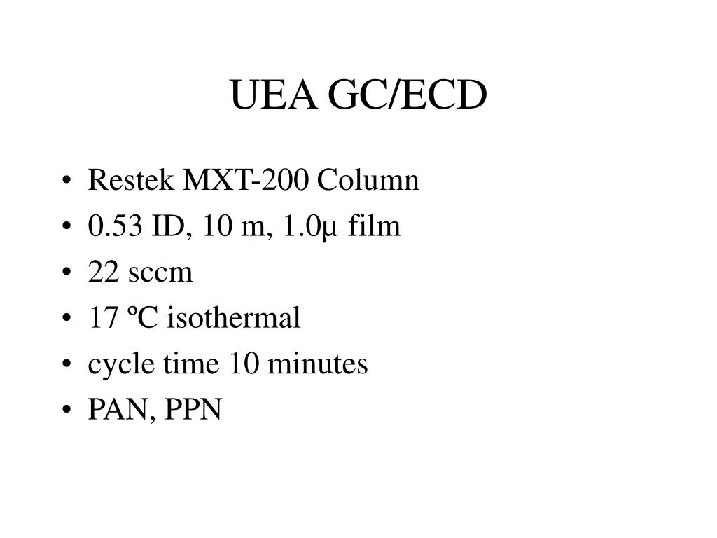 UEA GC/ECD
