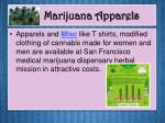 marijuana apparels