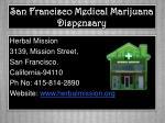san francisco medical marijuana dispensary