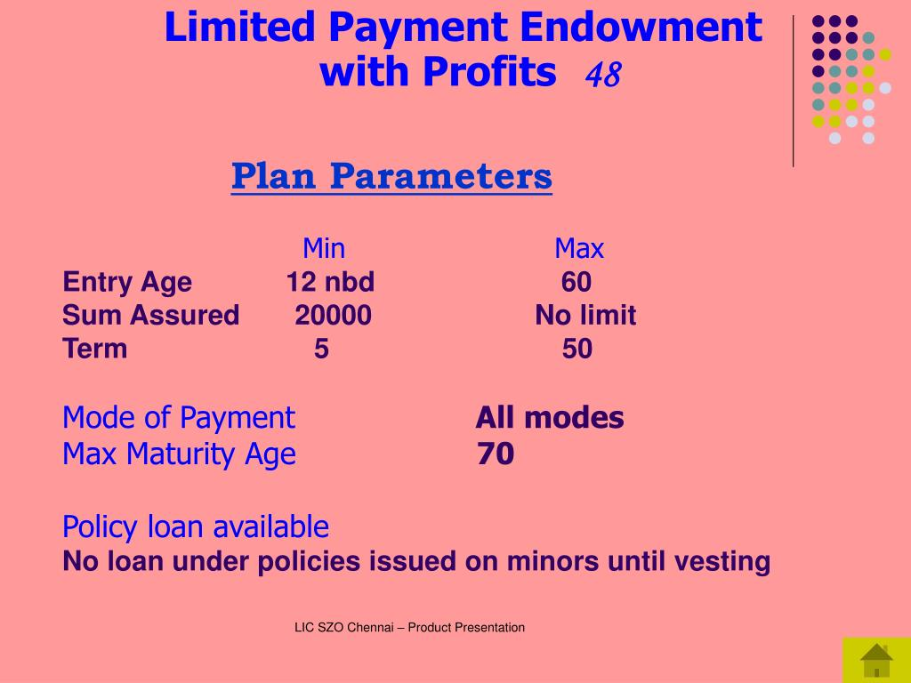 Limited Payment Endowment