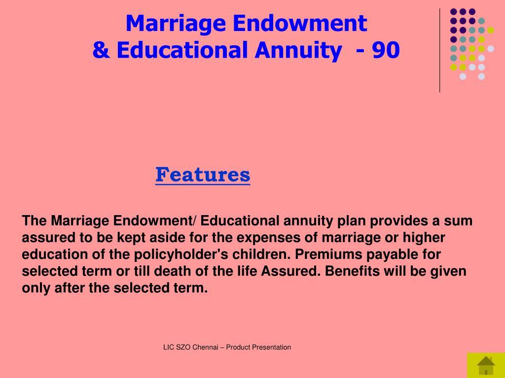 Marriage Endowment