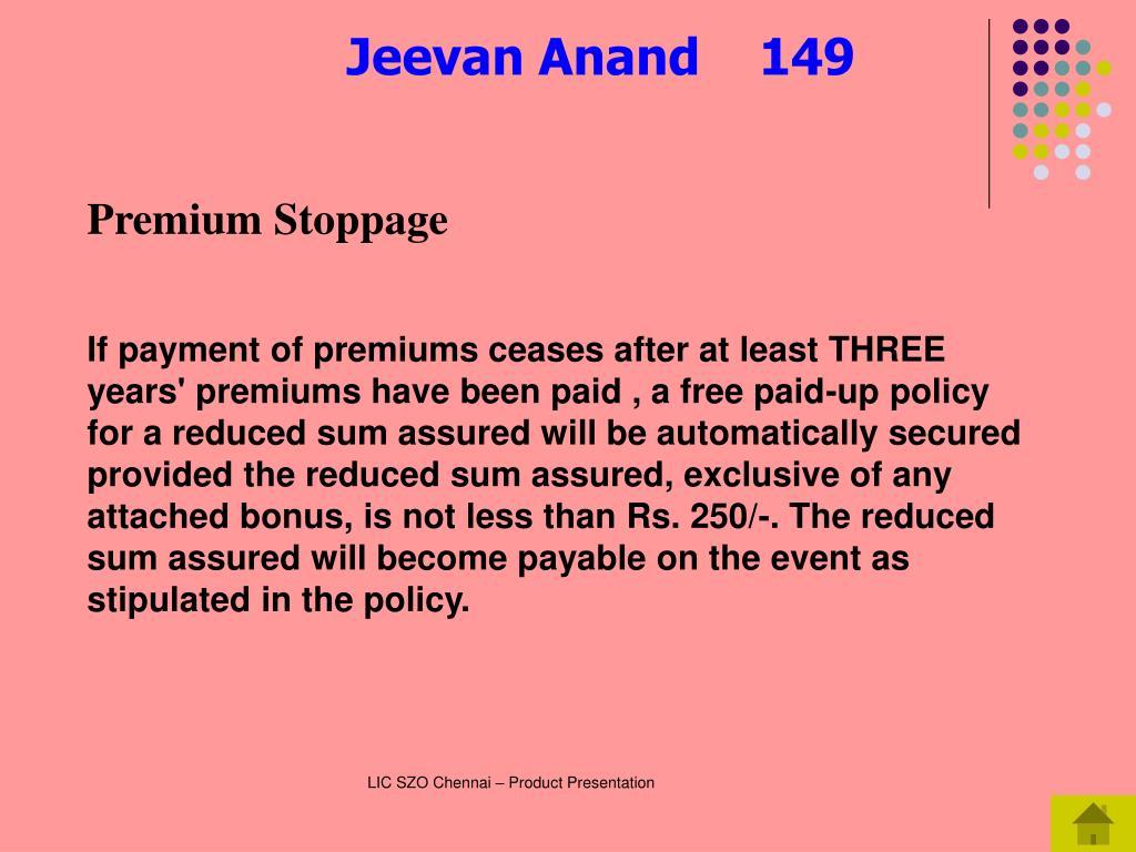 Premium Stoppage