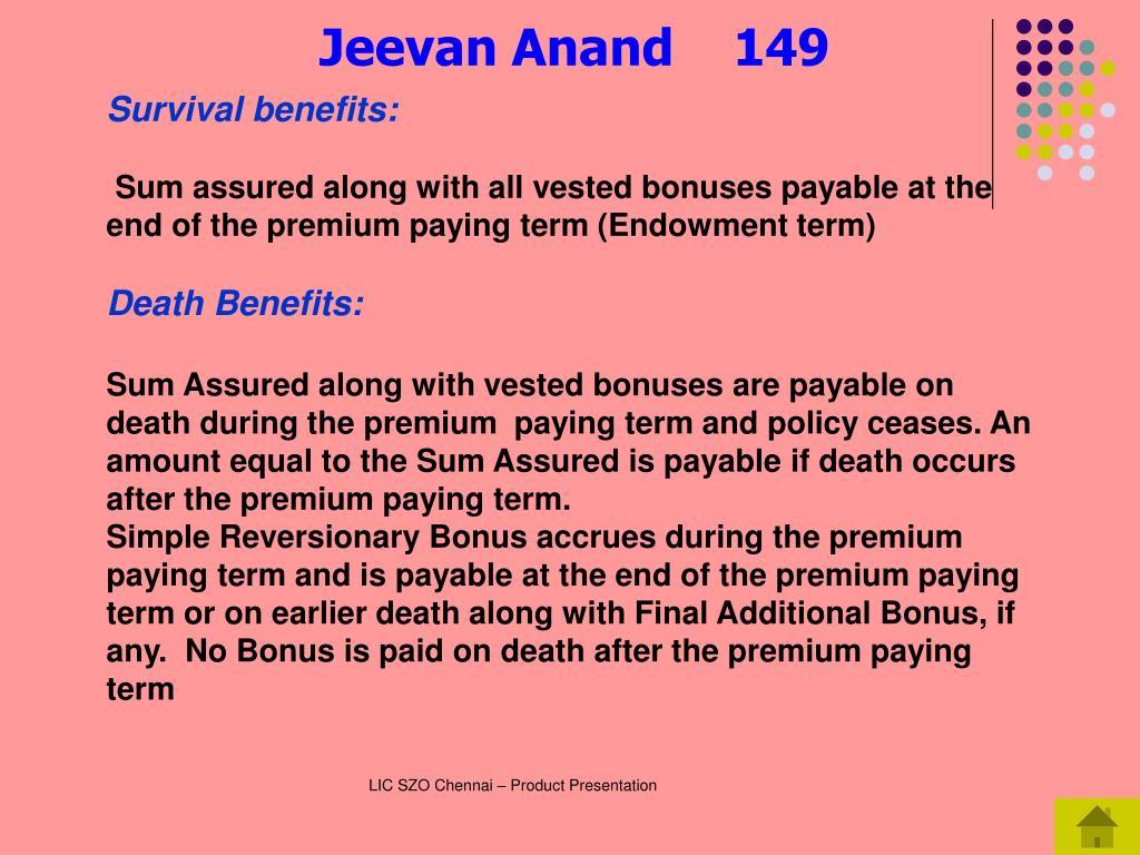 Survival benefits: