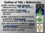 outline of talk references