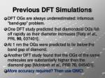 previous dft simulations