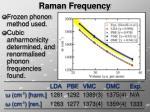 raman frequency
