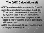 the qmc calculations i
