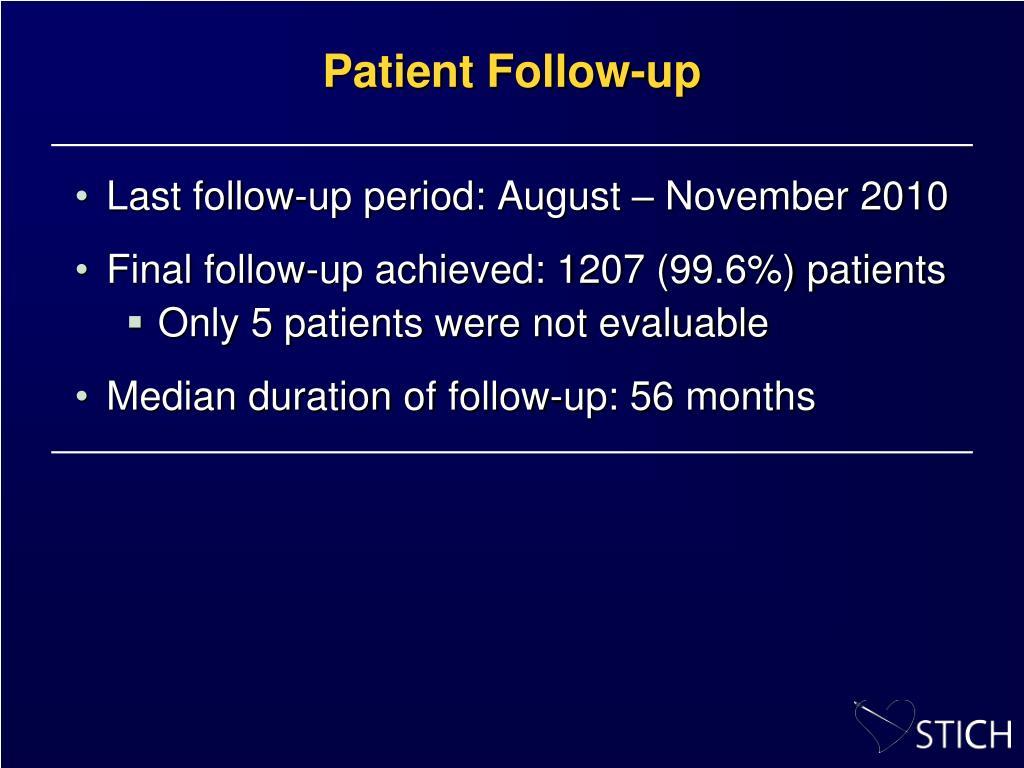 Patient Follow-up