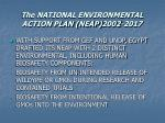 the national environmental action plan neap 2002 2017