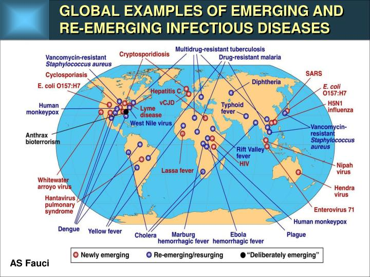 GLOBAL EXAMPLES OF EMERGING AND RE-EMERGING INFECTIOUS DISEASES
