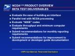 beta test deliverables