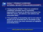 external security evaluation excerpt
