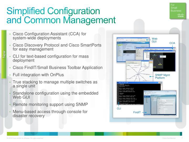 Simplified Configuration
