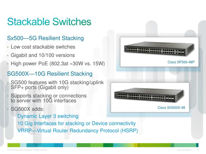 Stackable Switches