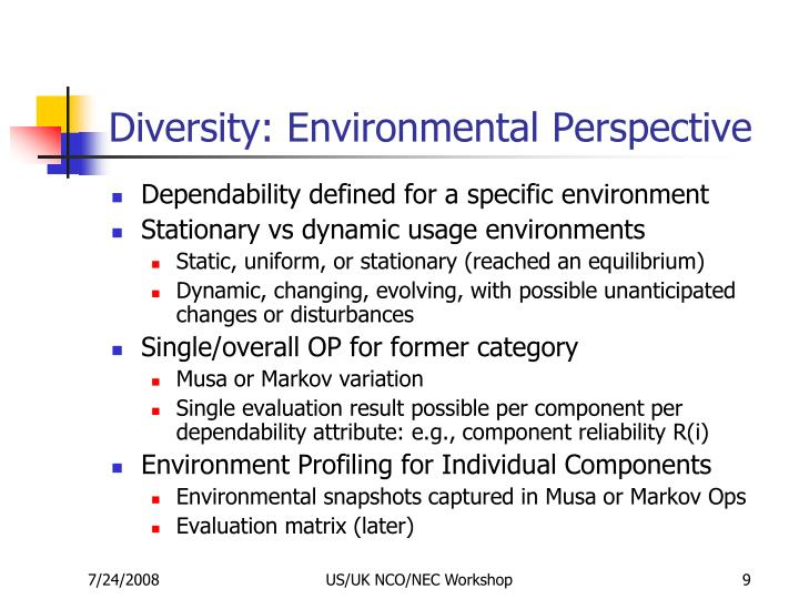 Diversity: Environmental Perspective