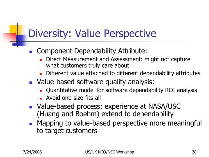 Diversity: Value Perspective