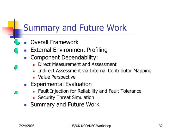 Summary and Future Work