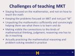 challenges of teaching mkt
