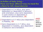 activities of daily living there are three different ways to meet the criteria for adl dependencies