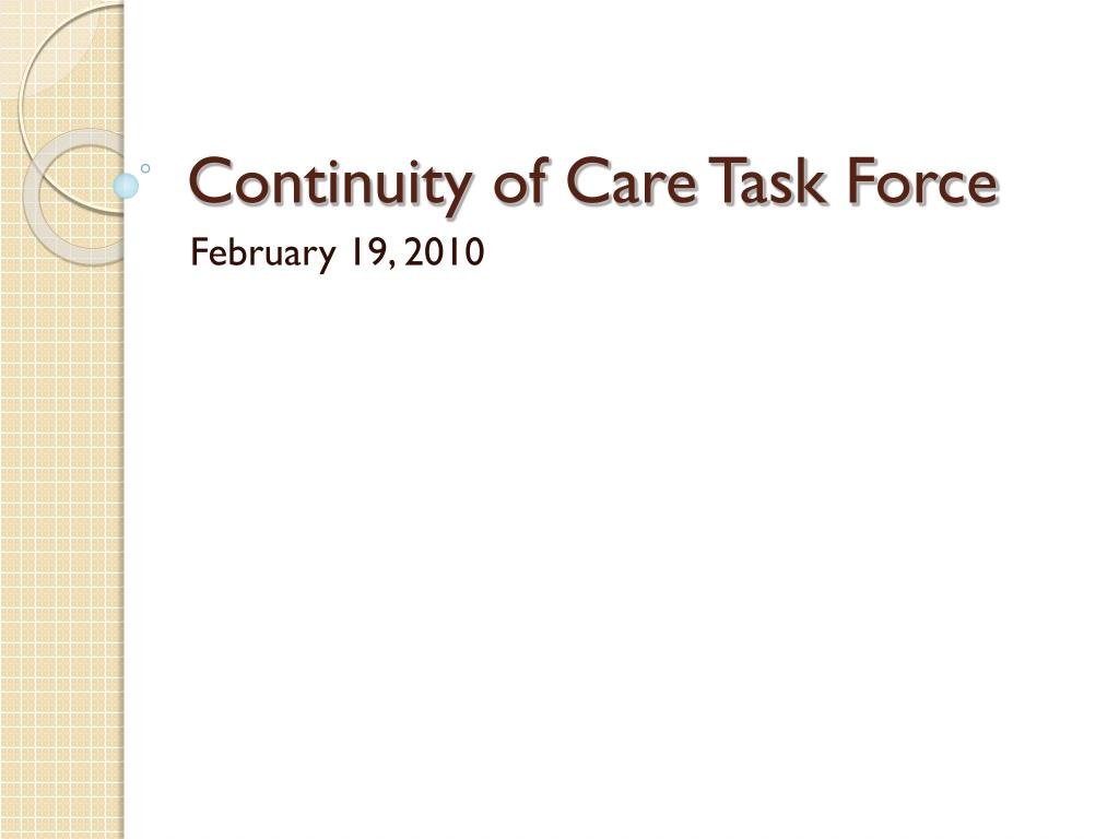 continuity of care task force l.