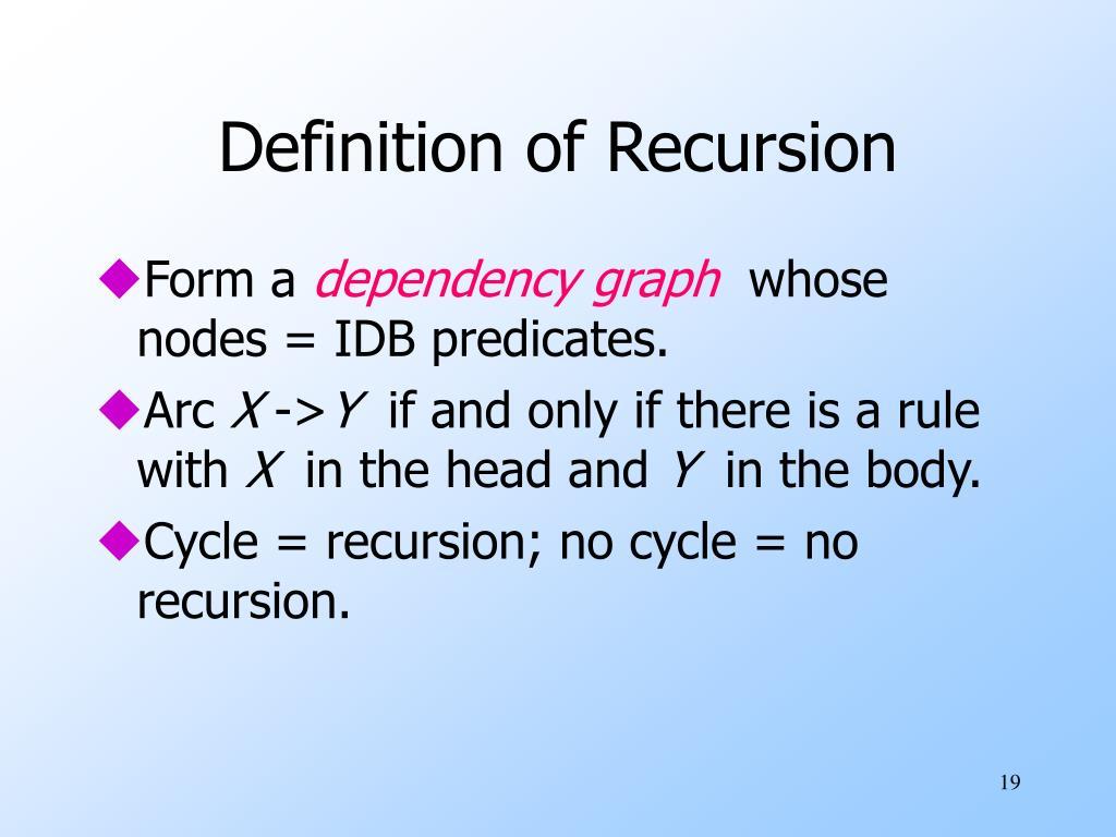 Definition of Recursion