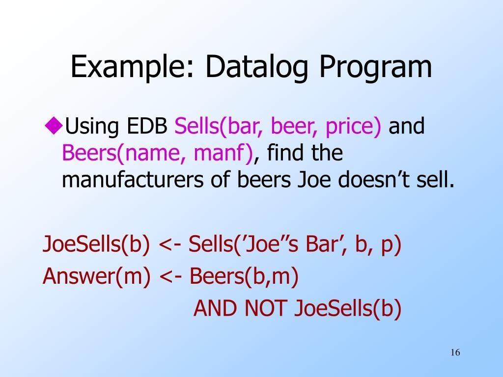 Example: Datalog Program