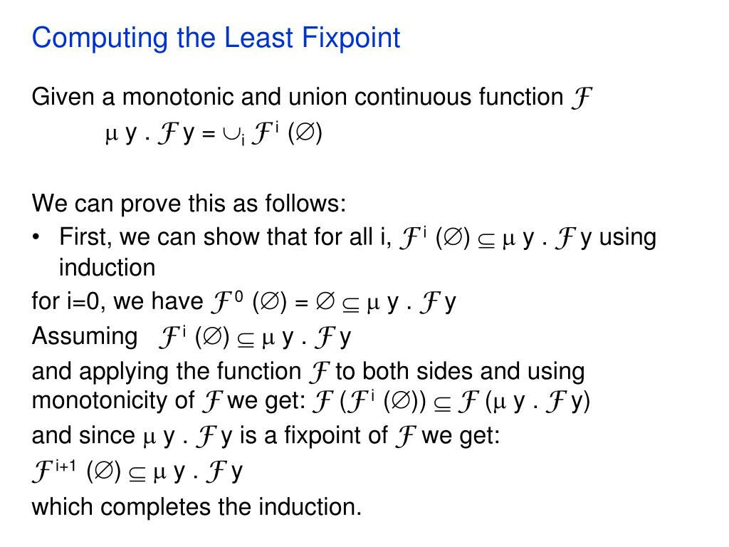 Computing the Least Fixpoint