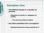 corruption cont