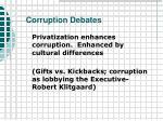 corruption debates