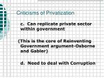 criticisms of privatization