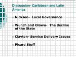 discussion caribbean and latin america