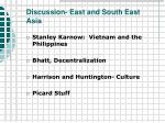 discussion east and south east asia