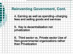 reinventing government cont