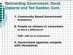 reinventing government david osborne and ted gaebler cont