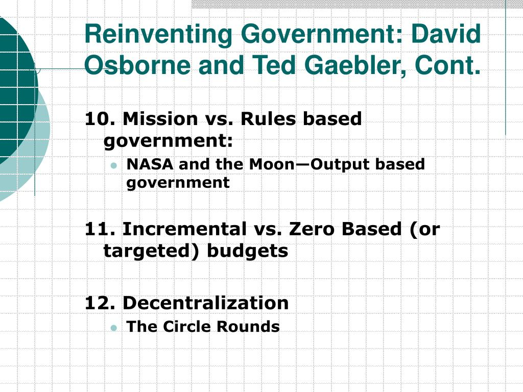 reinventing government Reinventing government by joan veon july 18, 2007 newswithviewscom the seventh global forum on reinventing government recently concluded in vienna.