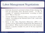 labor management negotiations