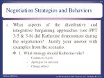 negotiation strategies and behaviors