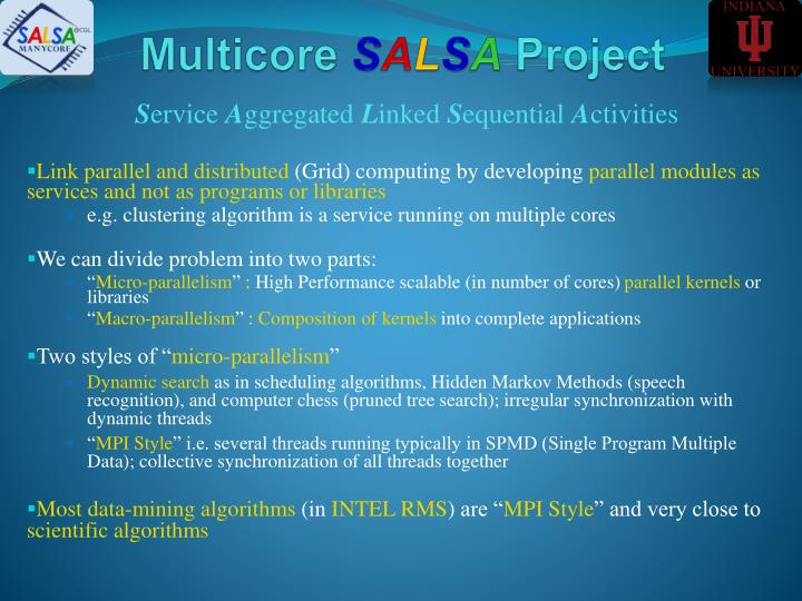 Multicore s a l s a project