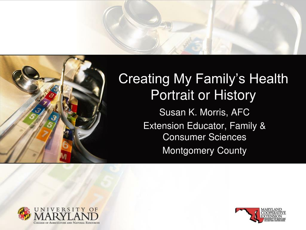 creating my family s health portrait or history l.