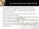 tips about my family health portrait
